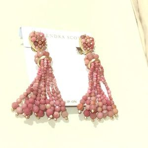 Kendra Scott shades of pink beaded drop earrings